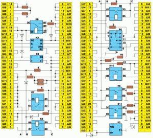 Схема блока предохранителей ВАЗ 2109, 2108, 21099