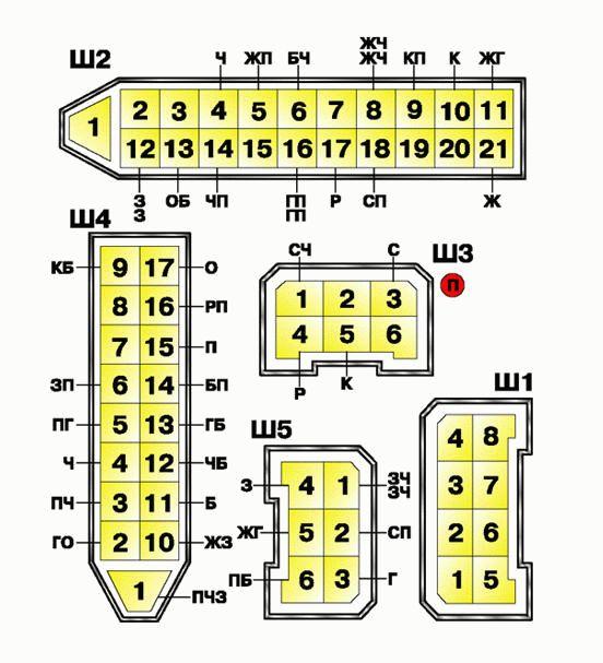 Нумерация штекера ваз 2110-11-