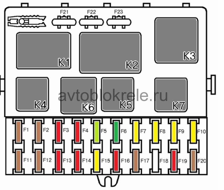 Схема блока предохранителей ваз 2110 инжектор фото 26