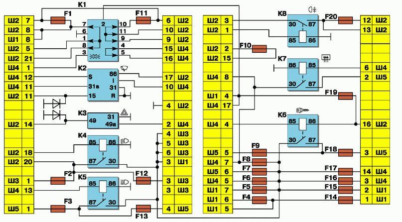 Схема блока предохранителей ваз 2110 инжектор фото 906