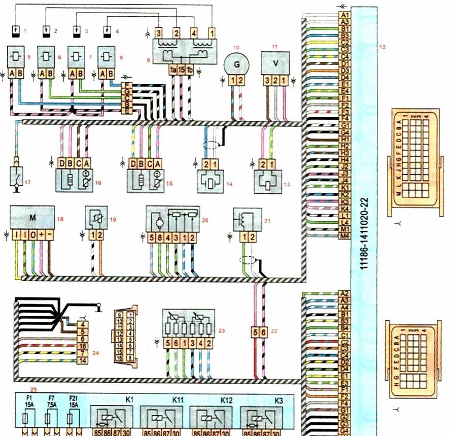 Схема системы управления