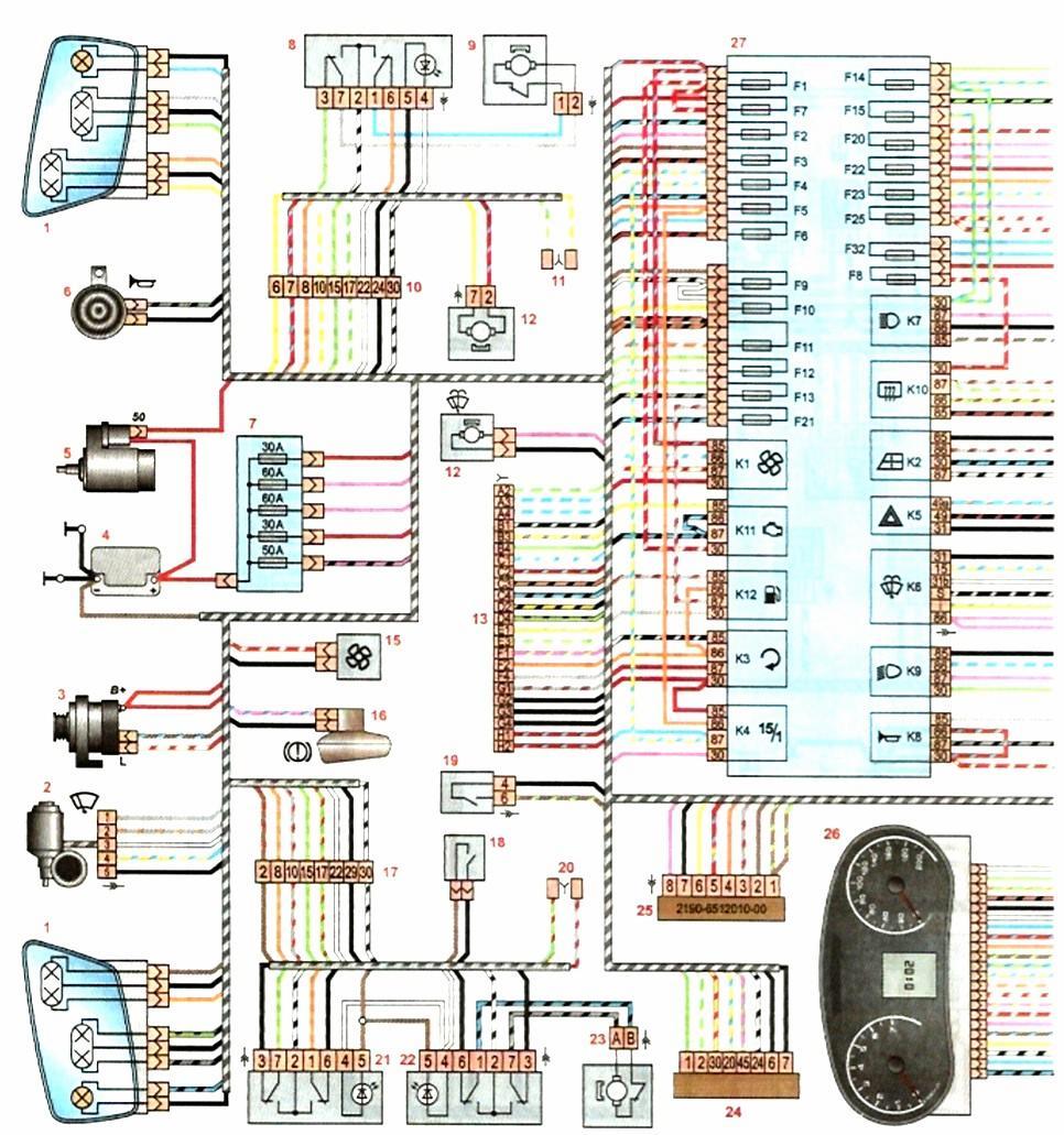 схема проводки бмв е21