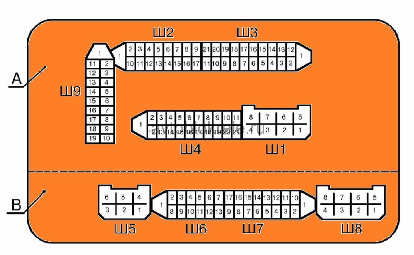 Схема блока предохранителей 3722010 60