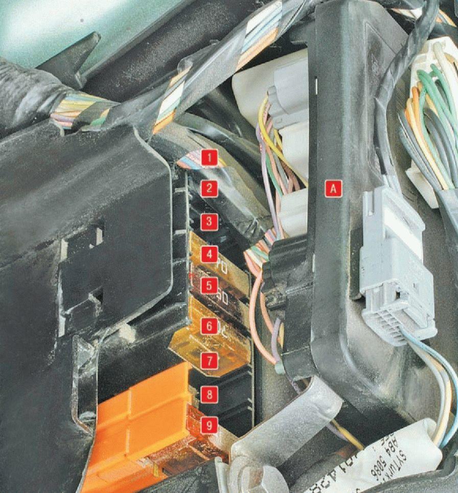 Рено меган 2 схема предохранителей под капотом фото 68