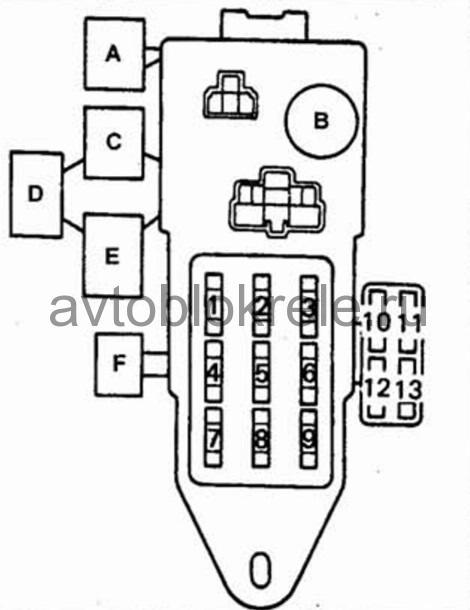 Схема на тойоту 4runner