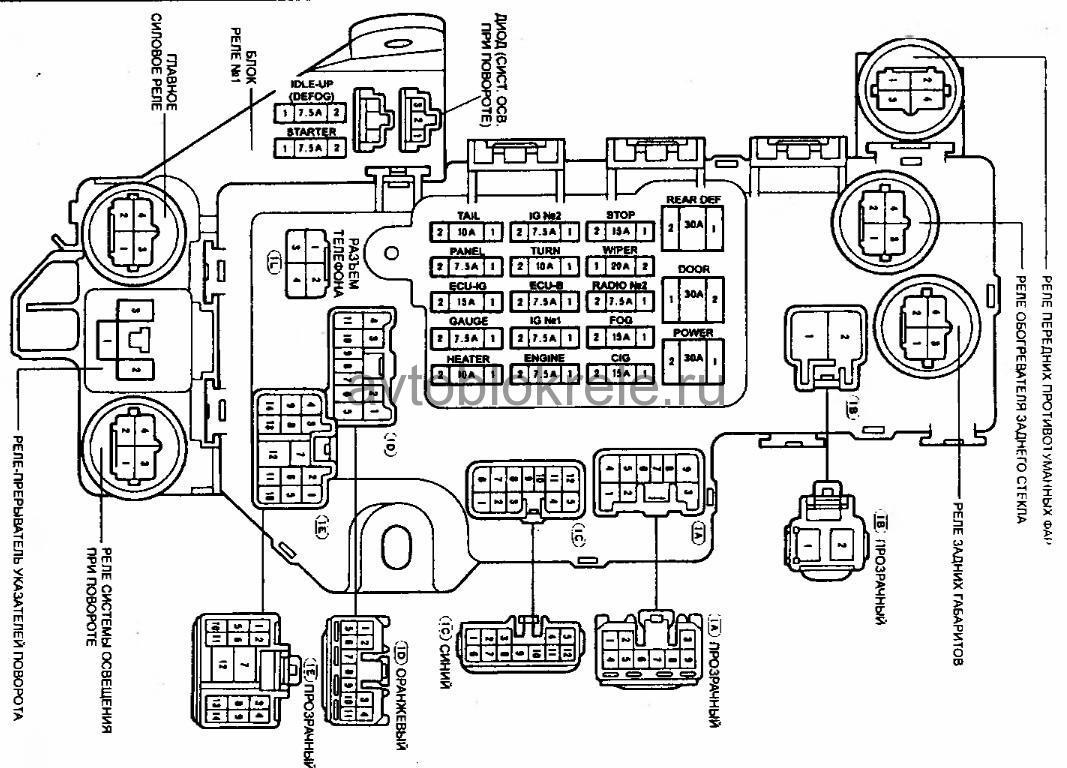 схема коректора фар марк2