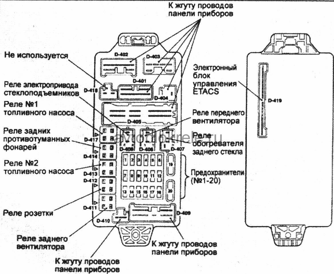 электрическая схема абс паджеро