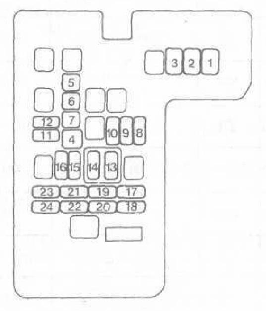 Мицубиси паджеро схема предохранителей