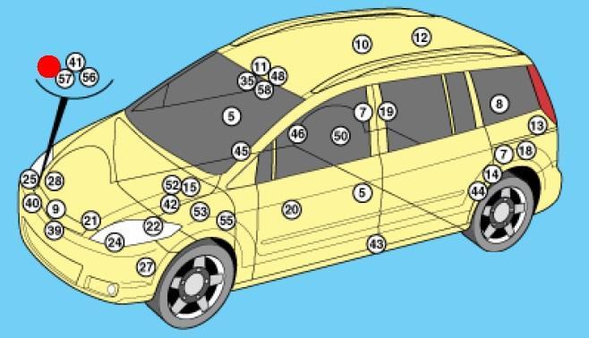 Предохранители и реле Mazda 5