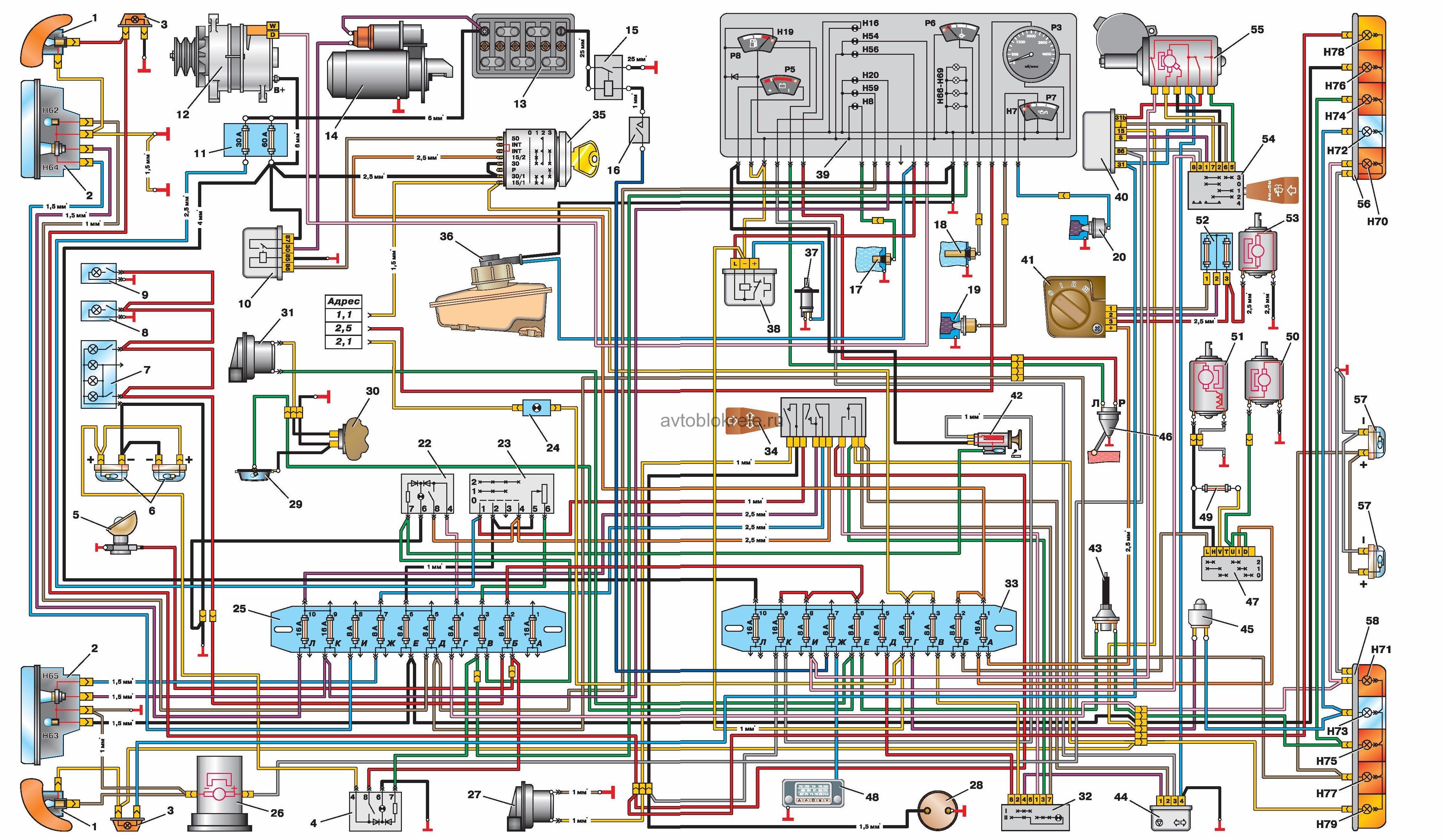 электросхема газ 3302 двигатель 406